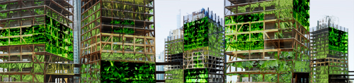 Vertical Farms in Unfinished Construction
