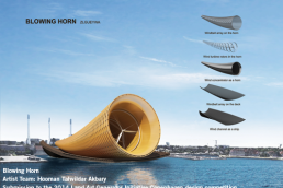 LAGI, Blowing Horn, Land Art Generator, Land Art Generator Initiative, solar, renewables, creative placemaking, energy art, LAGI 2014, Copenhagen, green design,