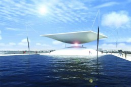 The Solar Hourglass, solar power, Copenhagen, LAGI2014, LAGI, Land Art Generator Initiative, green design, sustainable design, renewable energy, clean tech, energy art, concentrated solar power