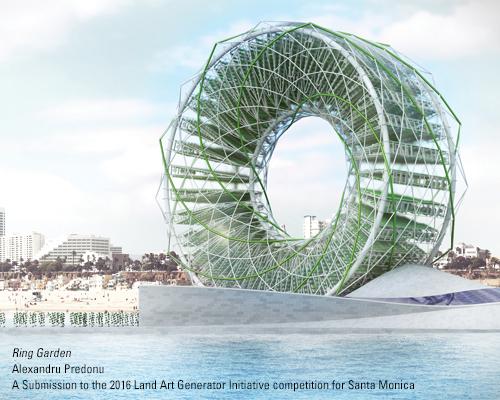 Alexandru Predonu, Ring Garden, algae, algae bioreactor, LAGI2016, Santa Monica, desalination plant