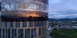 solar, dye-sensitized solar cell, DSC, DSCC, renewable energy, cleantech, green design, science tower, Graz, Austria, H.Glass, renewables, BIPV, Michael Grätzel