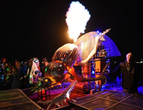 Alliance Earth, Burning Man, AfrikaBurn, South Africa, Jeffrey Barbee, Dung Beetle, pyrolysis, waste-to-energy, plastic waste, public art, biofuel