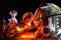 Alliance Earth, Burning Man, AfrikaBurn, South Africa, Jeffrey Barbee, Dung Beetle, pyrolysis, waste-to-energy, plastic waste, public art, biofuel