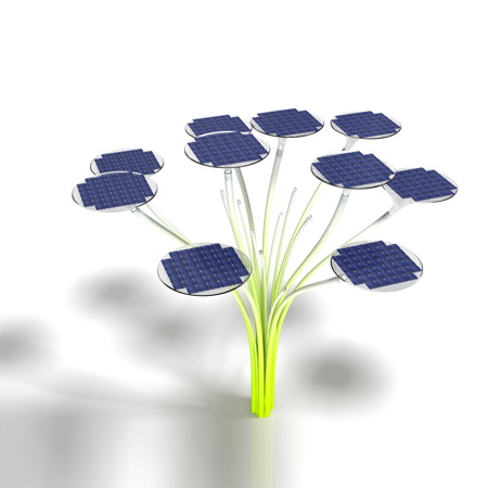 Solar Tree, Solar Tree 2.0, Ross Lovegrove, solar lighting, solar-powered lights, clean energy, smart grid, smart technology, modular light design, cleantech
