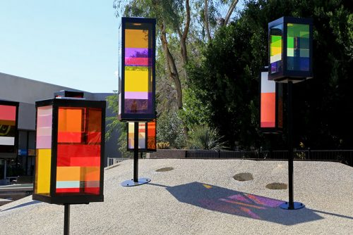 Sun Lanterns, Eli Richard, Scottsdale, Phoenix, public art, temporary art, solar power, solar powered art, solar design, Scottsdale Public Art, Scottsdale Civic Center Mall, solar art