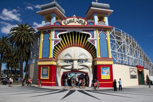 St Kilda, Luna Park, City of Port Phillip, Melbourne, Victoria, Australia, stock photography, entertainment, travel, attractions