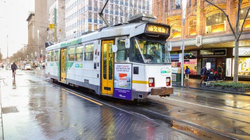 St Kilda, Melbourne, Victoria, stock photography, public transportation, Australia, City of Port Phillip