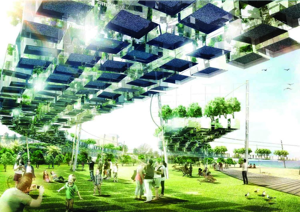 2000 MURNONGS, LAGI 2018, landscape architecture, renewable energy, wind energy, piezoelectricity, Windbelt, St Kilda Triangle, City of Port Phillip, Melbourne, Australia, design competition
