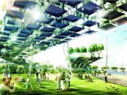 2000 MURNONGS, LAGI 2018, landscape architecture, renewable energy, wind energy, piezoelectricity, Windbelt, St Kilda Triangle, City of Port Phillip, Melbourne, Australia, design competition