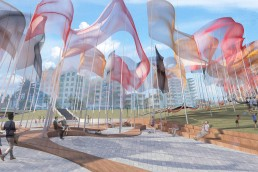 Dreamtime, LAGI 2018, LAGI 2018 Melbourne, Land Art Generator Initiative, Triboelectricity, Piezoelectricity, renewable energy, green design, City of Port Phillip, Victoria, design competition, Kyle Taveira