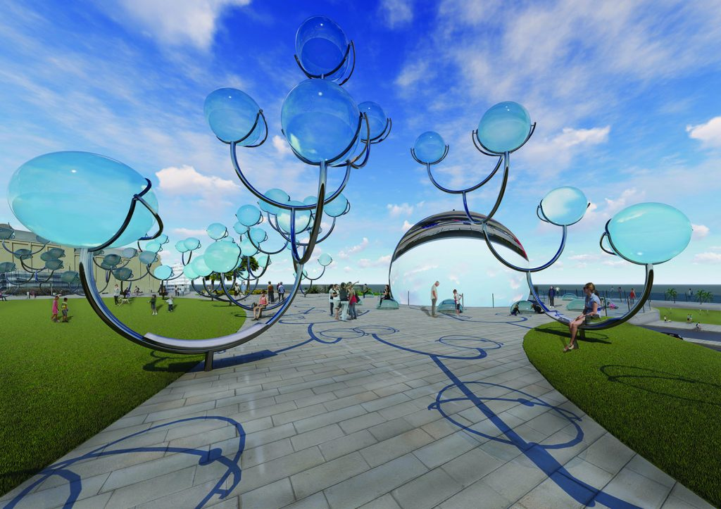 Solar Orbs, SUNY University, Anne Godfrey, LAGI 2018, Land Art Generator Initiative, solar energy, solar thermal energy, concentrated solar, Rawlemon, St Kilda Triangle, City of Port Phillip, art and energy, clean energy, renewable energy, Melbourne, Victoria, Australia