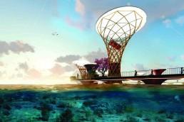 The Canopy, LAGI 2018, solar energy, wind energy, tidal energy, rainwater harvesting, energytech, st kilda triangle, city of port phillip, melbourne, green design, Australia