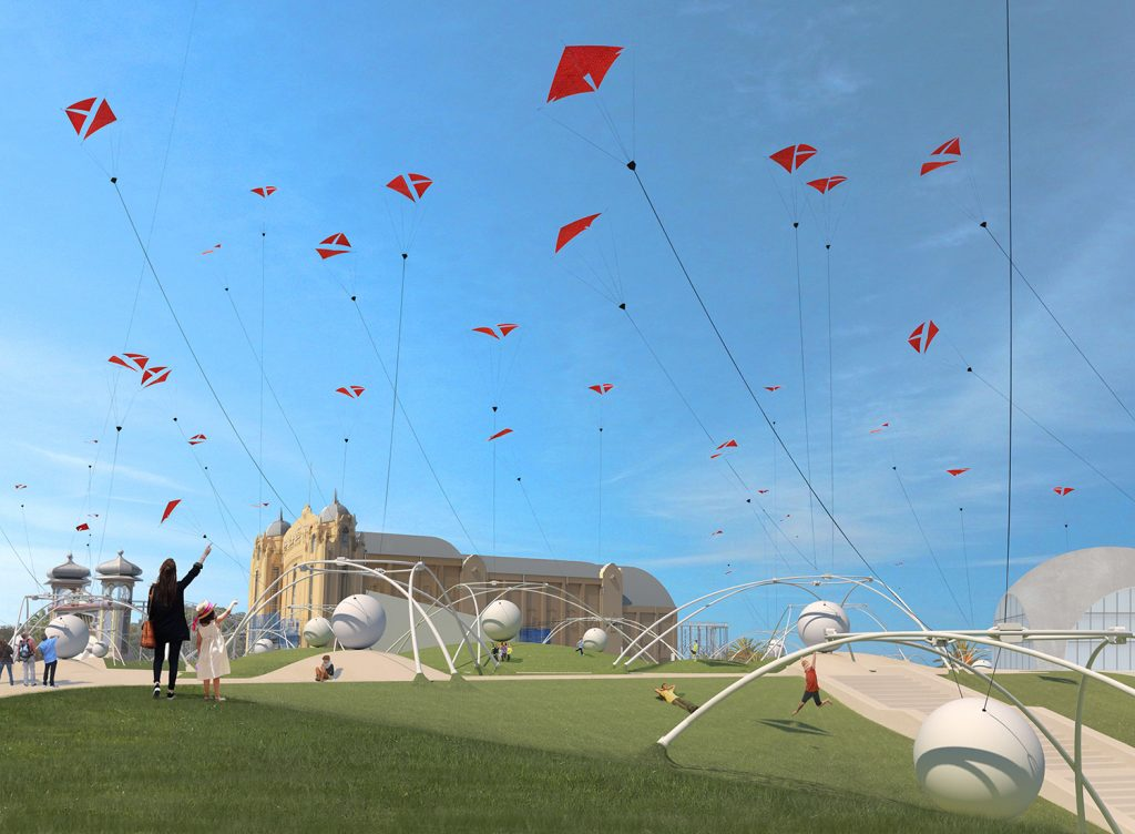 UNWIND, LAGI 2018, land art generator initiative, st kilda, city of port phillip, melbourne, australia, renewable energy, high altitude wind turbine, kite power, wind energy, airborne wind energy systems, clean energy, public art