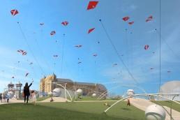 UNWIND, LAGI 2018, land art generator initiative, st kilda, city of port phillip, melbourne, australia, renewable energy, high altitude wind turbine, kite power, wind energy, airborne wind energy systems, clean energy, public art
