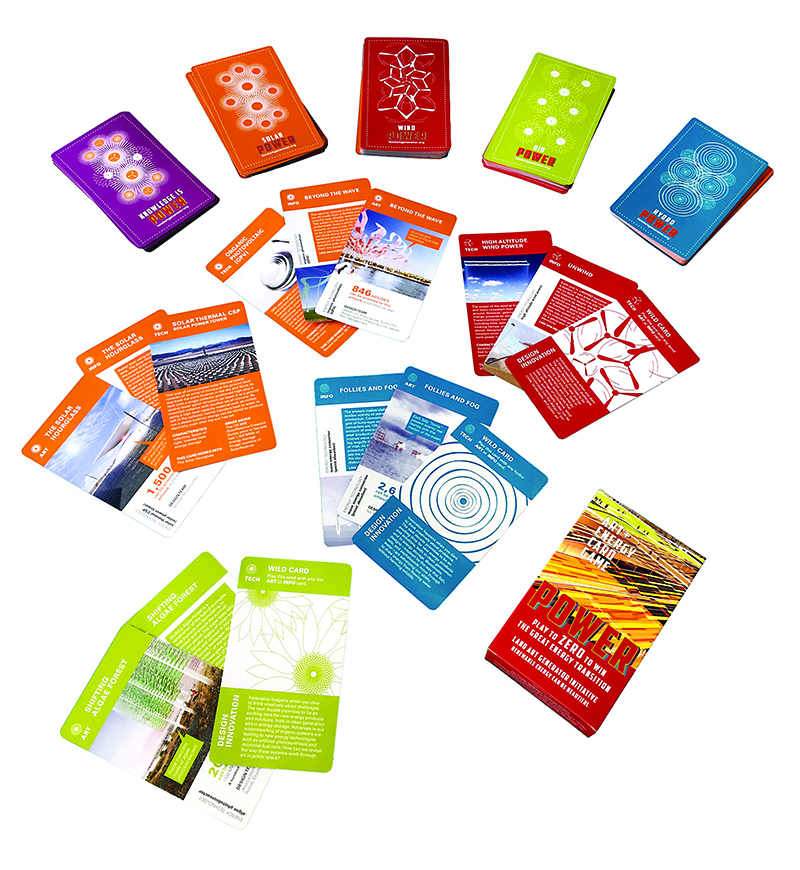 Art + Energy cards, energy art game, renewable energy, solar, wind, renewables, clean tech, educational materials, public art, energy tech