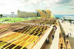 flexible mono-crystalline silicon photovoltaic, wind energy harvesting, microbial fuel cells, LAGI 2018, St Kilda Triangle, City of Port Phillip, Melbourne, Australia, renewable energy, clean energy, green design, urban design, LAGI 2018