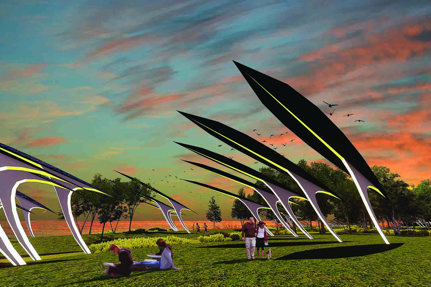 solar power, thin-film multijunction solar, piezoelectricity, public art, st kilda, melbourne, city of port phillip, australia, melbourne, LAGI 2018, land art generator initiative, renewable energy, clean energy, stealing fire