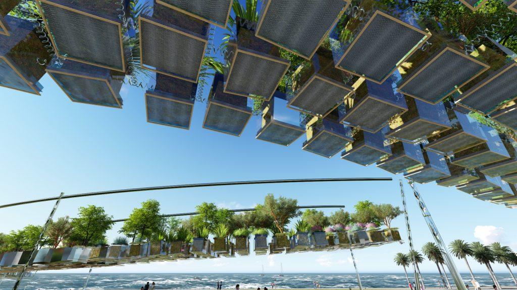 2000 Murnongs, VR, virtual reality, green design, st kilda, Land Art Generator Initiative, LAGI 2018, Melbourne, hanging trees