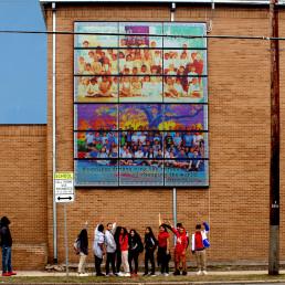 LAGI Solar Mural Installation